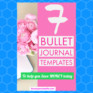 7 Simple Amazing bullet journal templates (save & organise your money)
