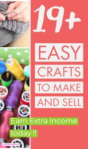 The ultimate list of 19+ crafts you can make a home to make extra cash today!! Find your inspiration to start your craft DIY business today to make that extra income.