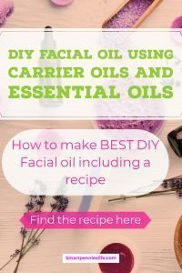 Looking for a simple homemade facial oil moisturiser to give you amazing skin? This post explains how you can make your own DIY facial oil for any skin type using carrier oils mixed with essential oils. Includes Gorgeous Rose Geranium facial oil for mature skins.
