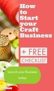Checklist to How to start a craft blog. Grab your FREE printable to start your creative business today. This craft business planner will help you start today