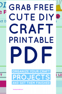FREE Cute DIY Craft Printable PDF ( Includes To do List to